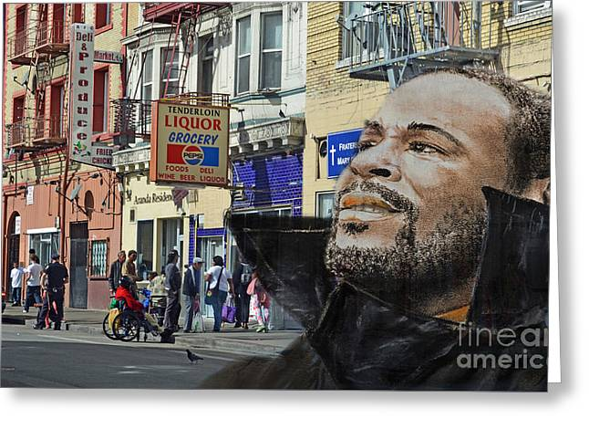 Singer Marvin Gaye What's Going On 2 Greeting Card by Jim Fitzpatrick