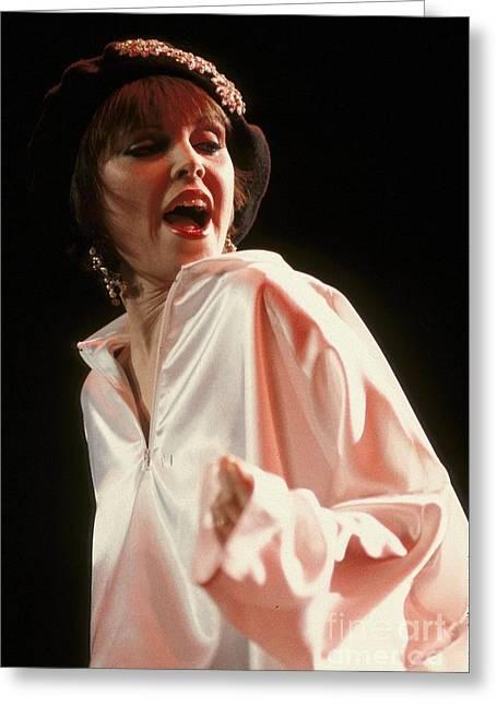 Singer Pat Benatar Greeting Card by Concert Photos
