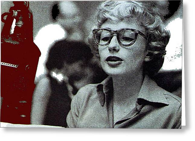 Singer Pianist Blossom Dearie  No Known Date Greeting Card
