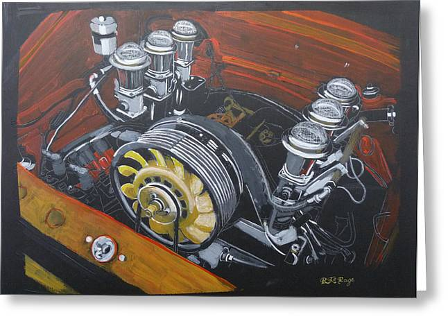 Singer Porsche Engine Greeting Card