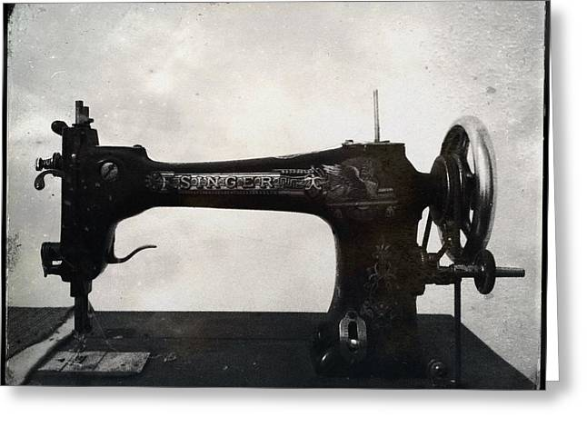 Singer Sewing Machine Greeting Card by Marco Oliveira