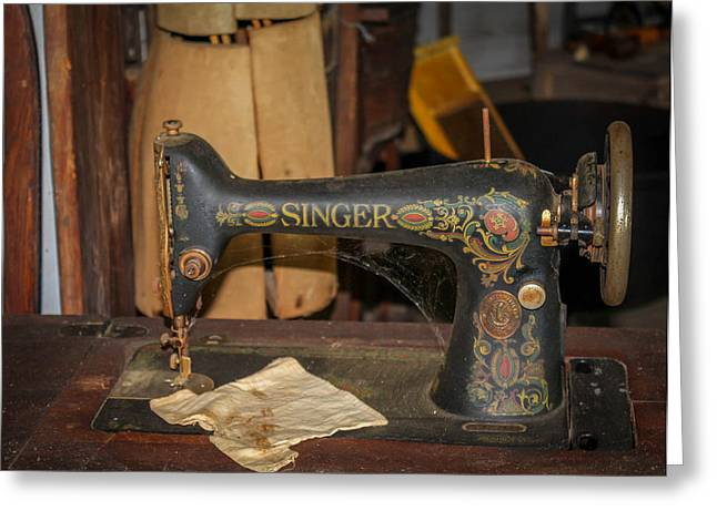 Greeting Card featuring the photograph Singer Sewing Machine  by Trace Kittrell