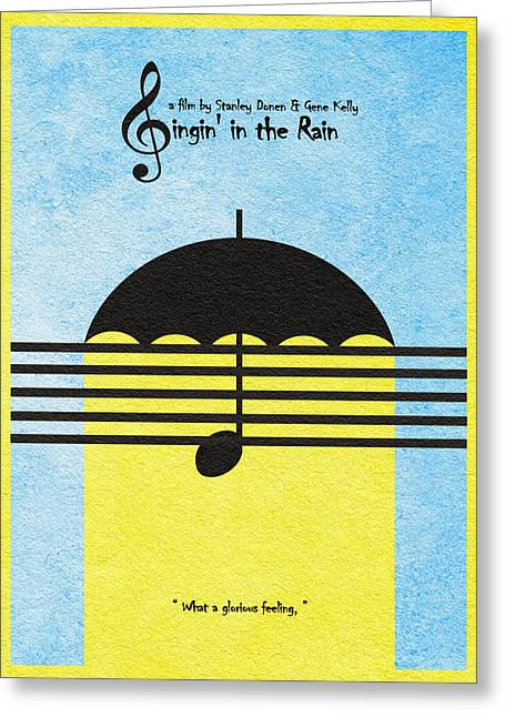 Singin' In The Rain Greeting Card by Ayse Deniz