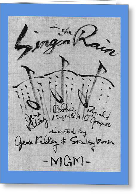 Singin In The Rain Poster Greeting Card by Kim Kimura