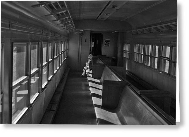 Greeting Card featuring the photograph Singin' In The Train by Jeremy Rhoades