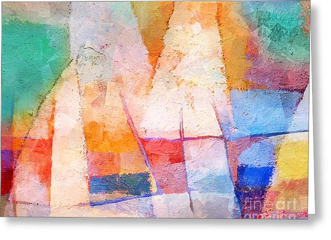 Singing Colors Greeting Card by Lutz Baar
