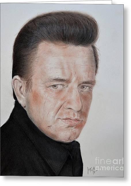 Singing Legend Johnny Cash Greeting Card