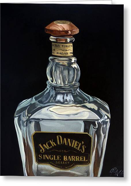 Single Barrel Jack Daniel's Greeting Card