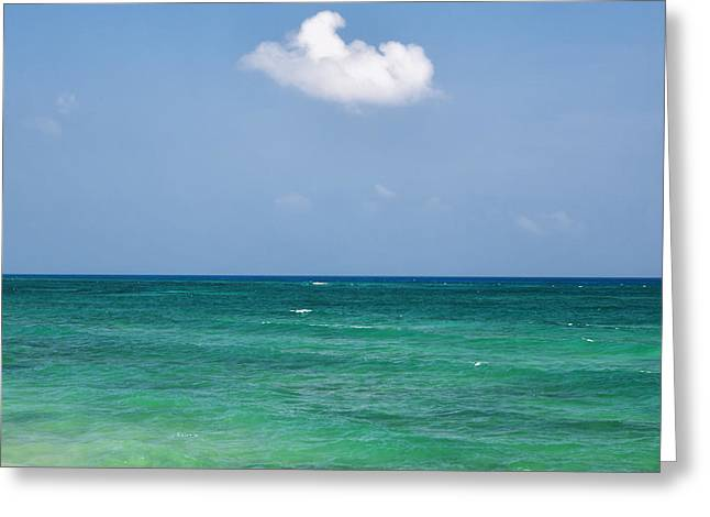 Single Cloud Over The Caribbean Greeting Card