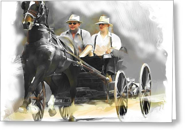 Single Horse Power Greeting Card by Bob Salo