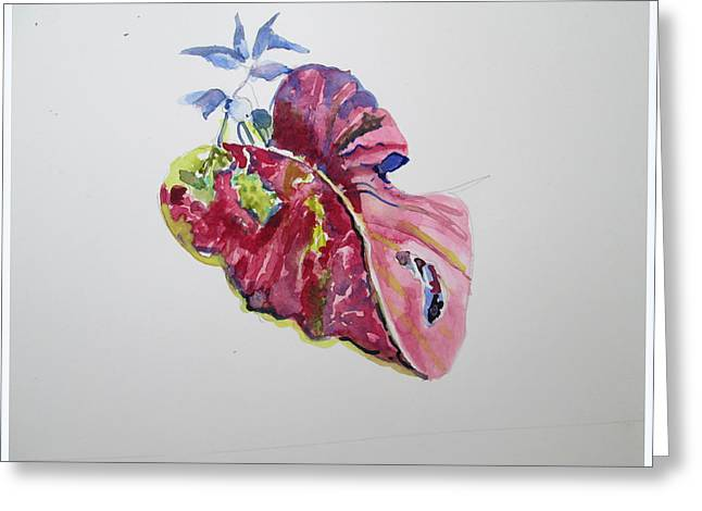 Single Leaf Greeting Card by Mindy Newman