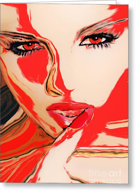 Single Look Greeting Card by Tbone Oliver