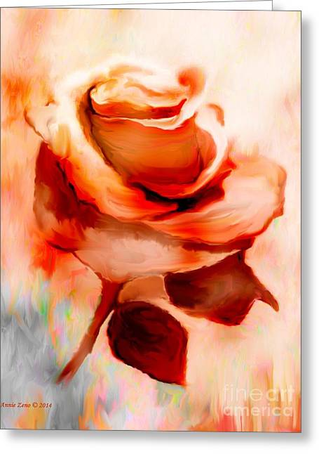 Single Rose Painting Greeting Card