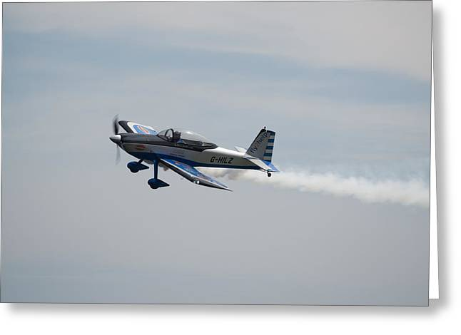 Greeting Card featuring the photograph Single Rv8tor Sunderland Air Show 2014 by Scott Lyons