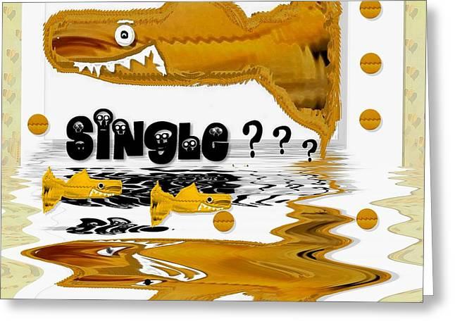 Single Shark Pop Art Greeting Card by Pepita Selles