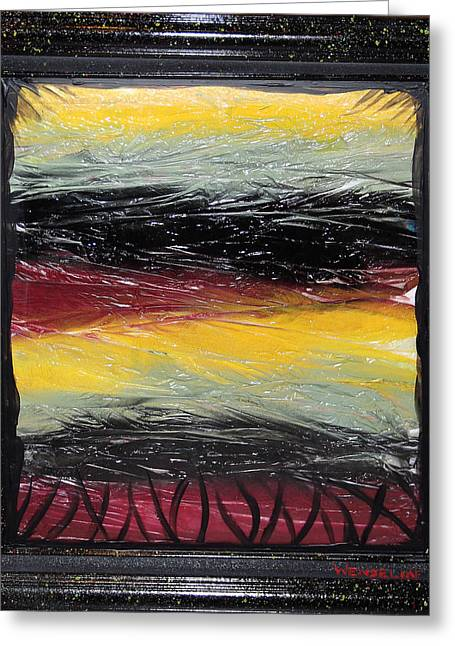 Single Use Bag Sunset 01 Greeting Card by Crush Creations