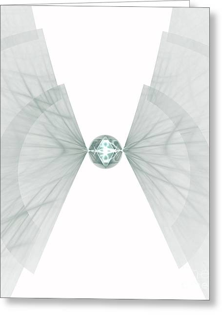 Greeting Card featuring the digital art Singularity by Arlene Sundby