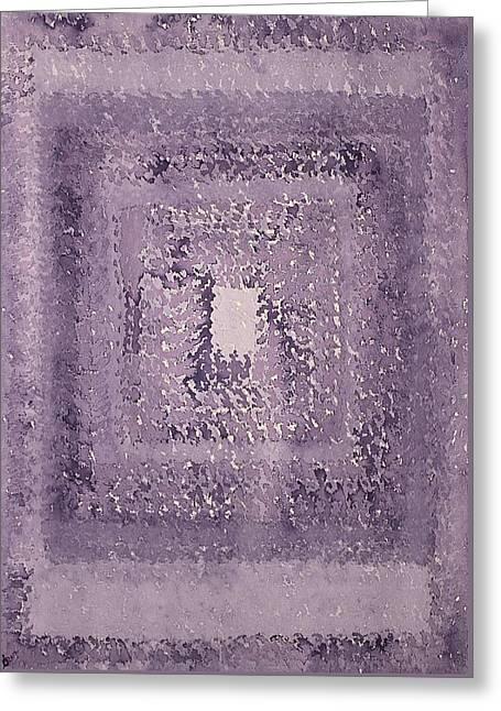 Singularity Original Painting Greeting Card by Sol Luckman