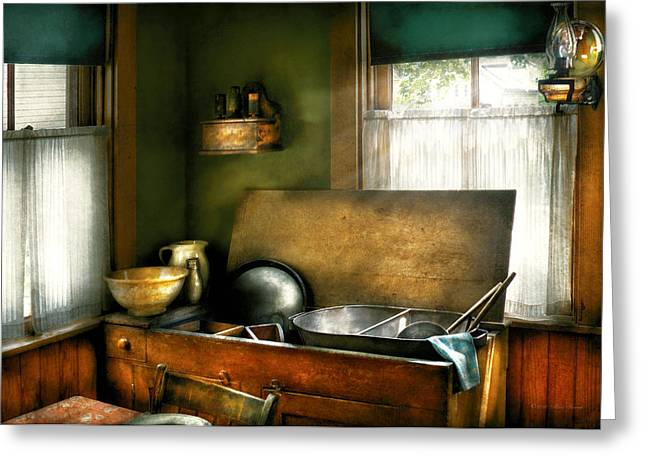 Sink - The Kitchen Sink Greeting Card by Mike Savad