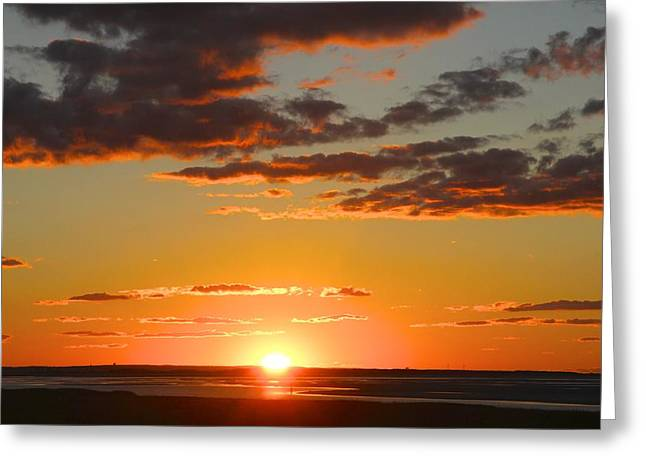 Sinking Sun Greeting Card by Jim Gillen