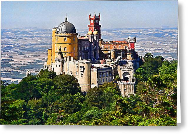 Sintra Pena Palace  Portugal Greeting Card by Jaime Alves