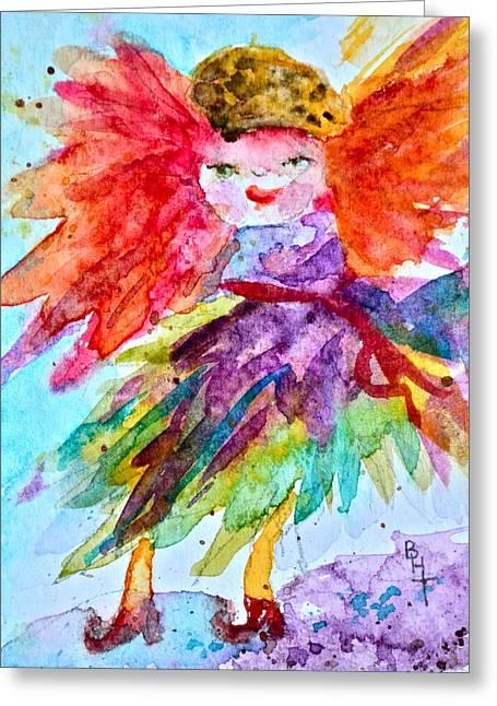 Siofra Greeting Card by Beverley Harper Tinsley