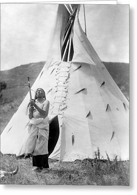 Sioux And Tipi, C1907 Greeting Card by Granger