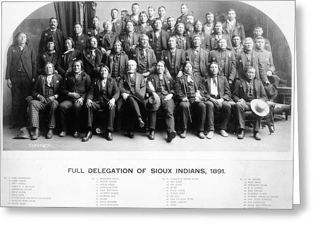 Sioux Delegates, 1891 Greeting Card by Granger