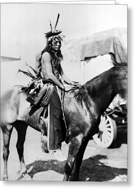 Sioux Horseman, C1901 Greeting Card