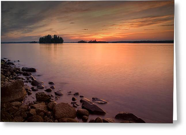 Sioux Narrows Sunset Greeting Card