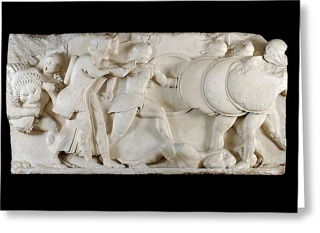Siphnian Treasury Frieze Greeting Card by Ashmolean Museum/oxford University Images