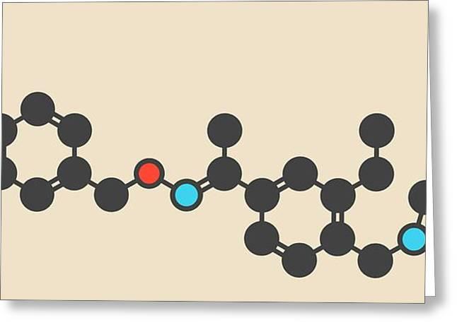 Siponimod Anti-inflammatory Drug Molecule Greeting Card by Molekuul