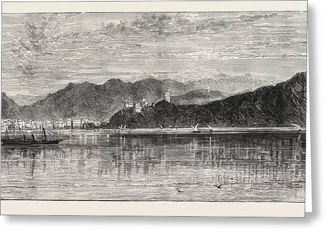 Sir Bartle Freres Anti-slavery Mission View Of Muscat Greeting Card by English School
