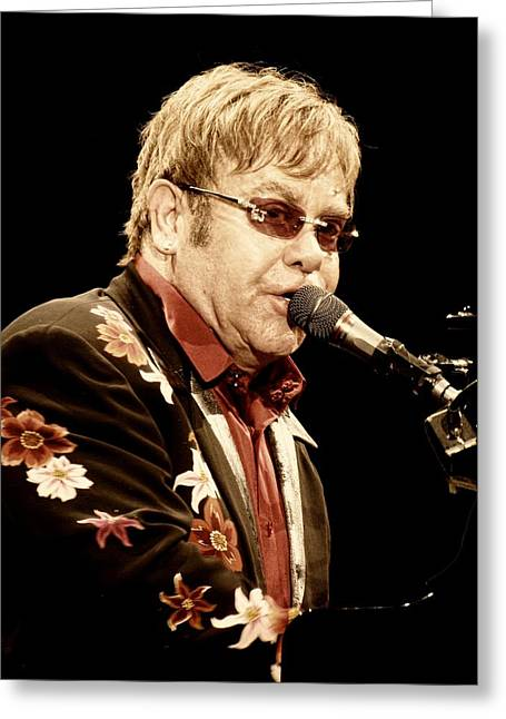 Sir Elton John Greeting Card by Devina Browning
