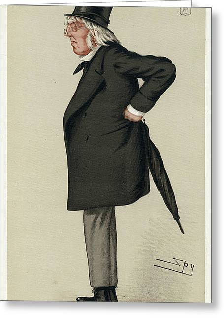 Sir Francis Hastings  Charles Doyle Greeting Card by Mary Evans Picture Library