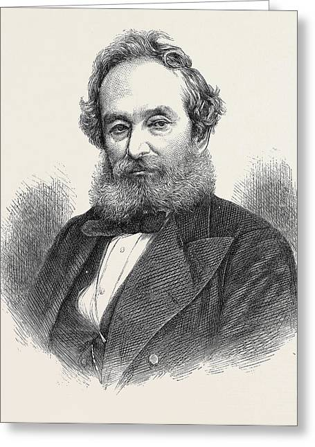 Sir Francis Pettit Smith Inventor Of The Screw-propeller Greeting Card by English School