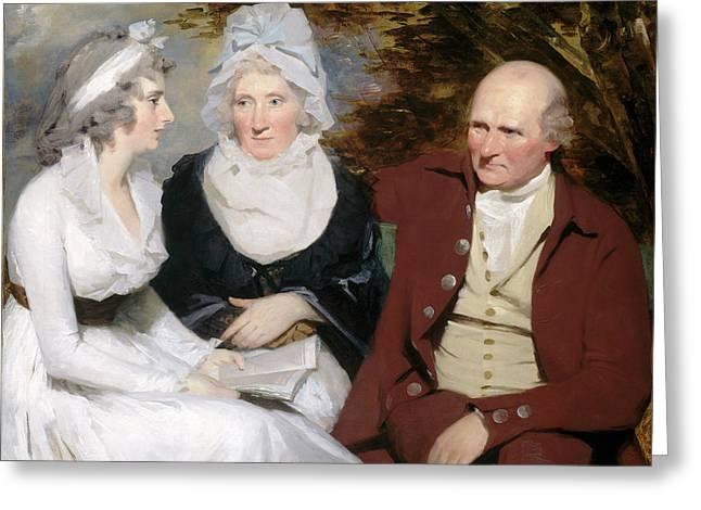 Sir Henry Raeburn, John Johnstone, Betty Johnstone Greeting Card by Litz Collection
