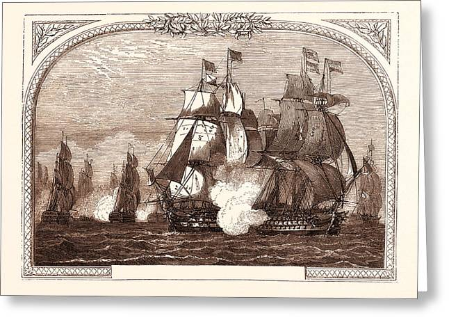 Sir John Jervis Action Off Cape St. Vincent Greeting Card
