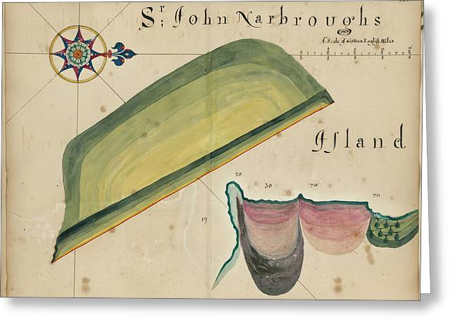Sir John Narbrough's Island Greeting Card by British Library