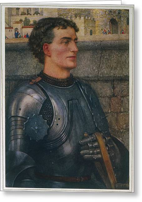 Sir Lancelot Goes To  Guinevere Greeting Card