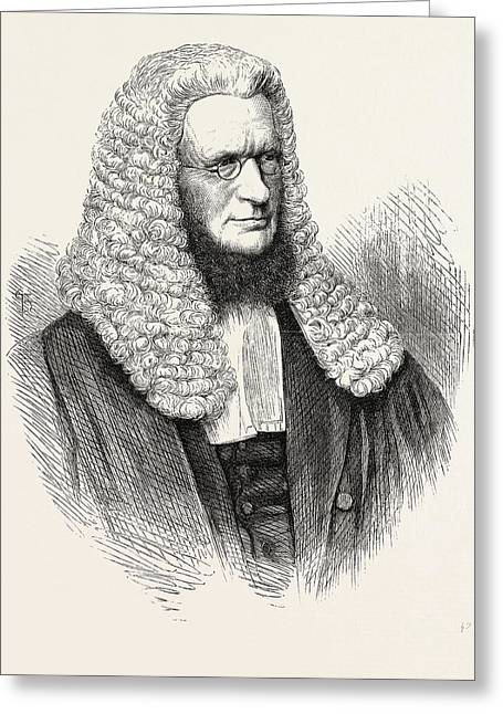 Sir R.d. Hanson, Chief Justice Of The Supreme Court Greeting Card by Australian School