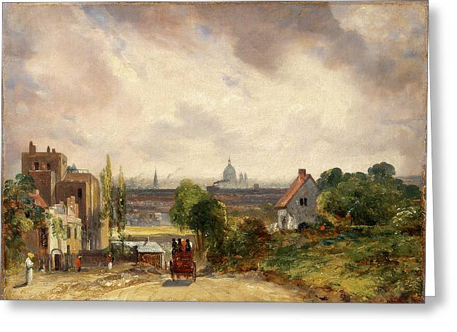 Sir Richard Steeles Cottage, Hampstead A View Of London Greeting Card
