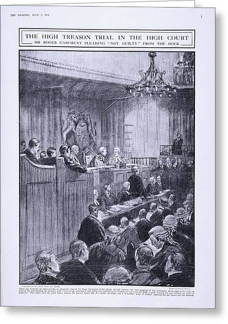 Sir Roger Casement In The Dock Greeting Card
