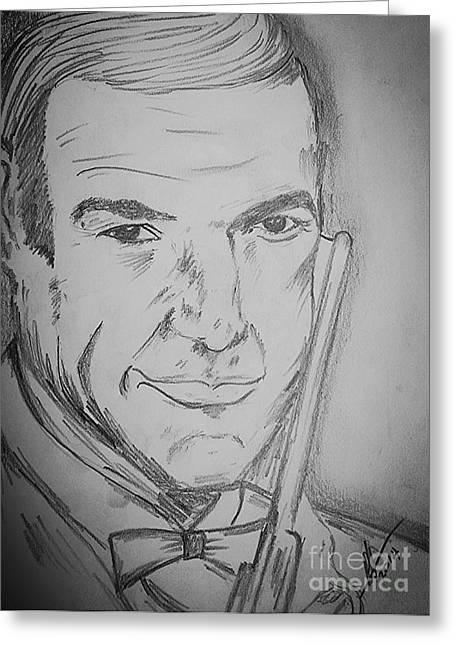 Sir Sean Connery  Greeting Card by Collin A Clarke