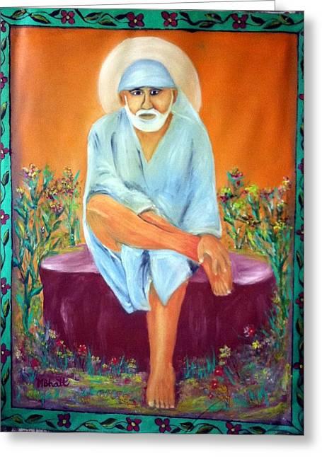 Sirdi Wale Sai Baba Greeting Card by M bhatt
