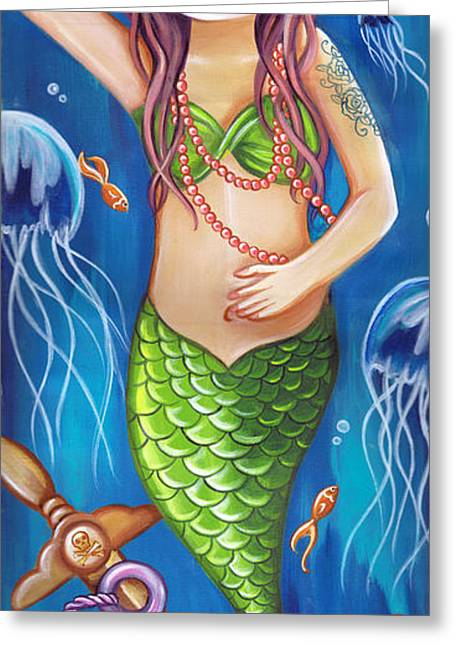 Siren Of The Seabed Greeting Card by Jaz Higgins