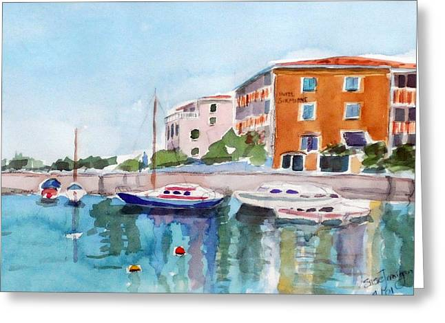 Sirmione Waterfront Greeting Card by Susie Jernigan