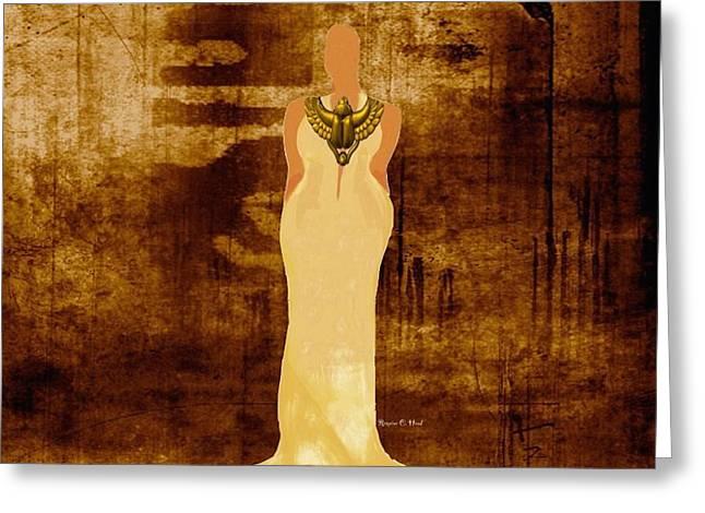 Sista Scarab Goddess Greeting Card