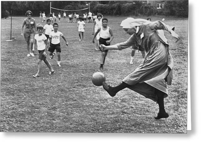 Sister Boots The Ball Greeting Card