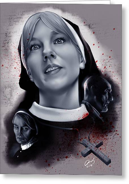 Sister Mary Eunice Greeting Card by Pete Tapang